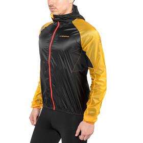 La Sportiva Blizzard Windbreaker Jacket Men Black/Yellow